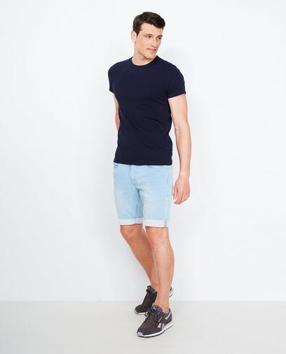 Lichtblauwe jeansshort